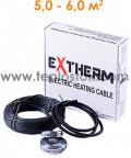 Теплый пол Extherm ETC 20-1000 1000W двухжильный кабель