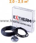 Теплый пол Extherm ETC 20-400 400W двухжильный кабель