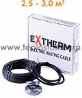 Теплый пол Extherm ETC 20-500 500W двухжильный кабель