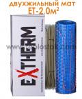 Теплый пол Extherm ET 200-200 2,0м.кв 400W двухжильный мат