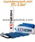 Теплый пол Extherm ETL 200-200 2,0м.кв 400W одножильный мат