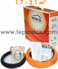 Теплый пол WOKS-10 250Вт тонкий двухжильный кабель