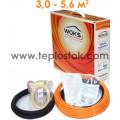 Теплый пол WOKS-10 450Вт тонкий двухжильный кабель