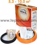 Теплый пол WOKS-10 800Вт тонкий двухжильный кабель