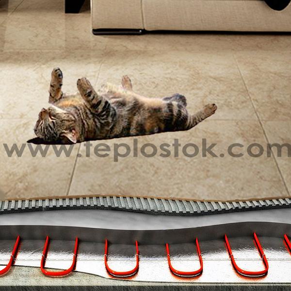 нагревательный кабель в слой стяжки